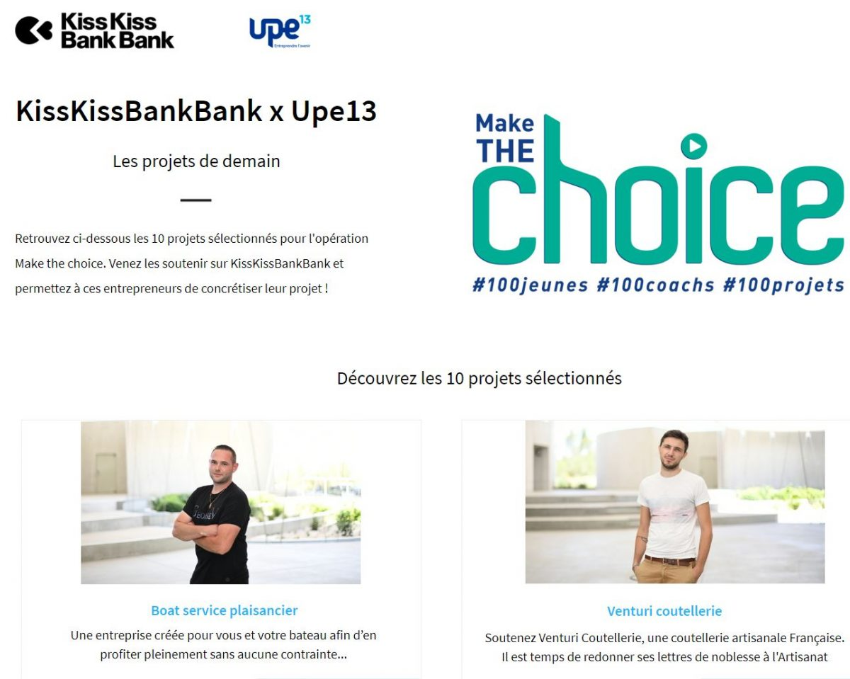 SOUTENEZ NOS FINALISTES « THE CHOICE » !