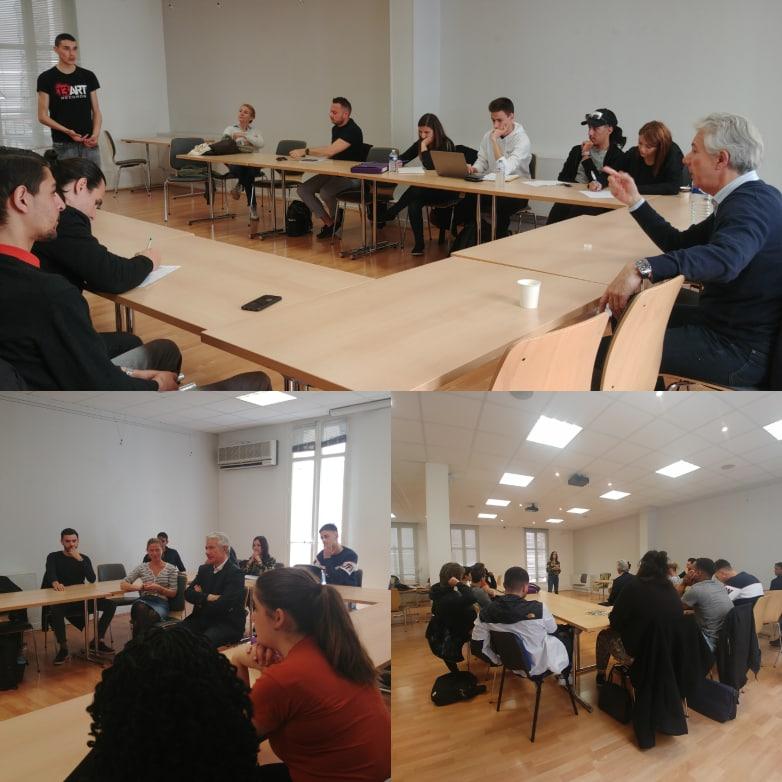 Sessions de «pitch training» pour les candidats !