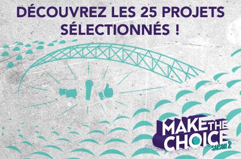 Retrouvez les 25 projets sélectionnés !